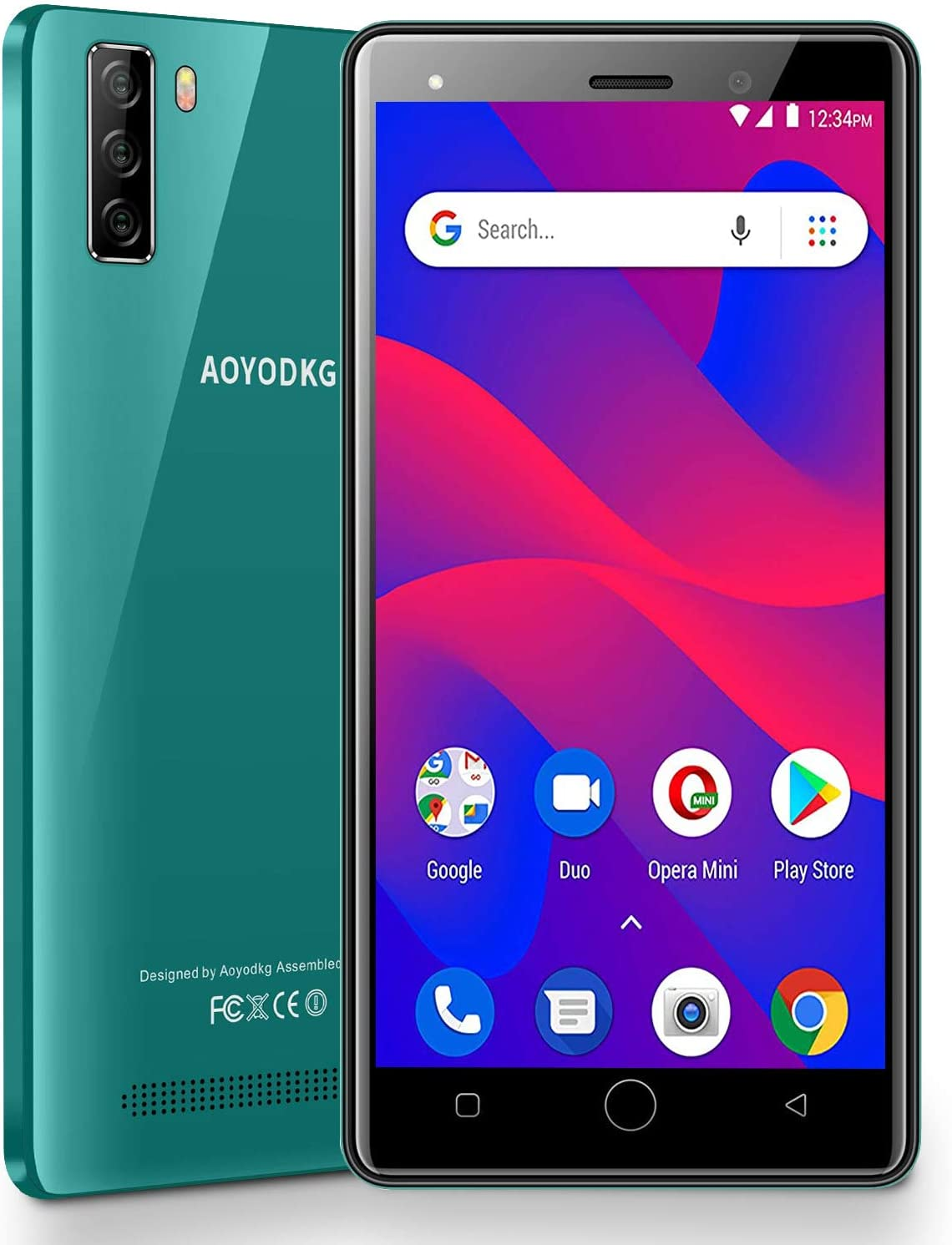 Moviles Libres 4G Android 9.0 Pie, A10+(2020) 16GB ROM/128GB 5.0 HD Smartphone Libre Quad-Core Dual SIM Dual Cámara 8MP+5MP 3400mAh GPS Bluetooth Moviles Buenos (Verde): Amazon.es: Electrónica