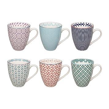 Tassen Design design studio geometric eclectic tassen set aus hochwertigem