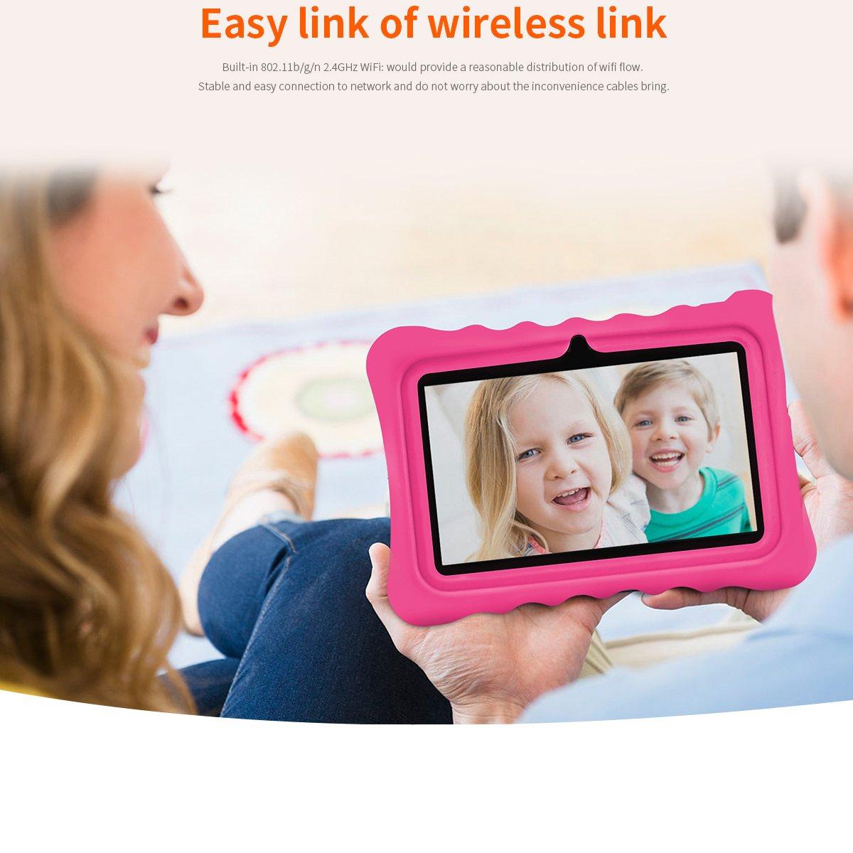 Ainol Q88 Android 7.1 RK3126C Quad Core 1GB+16GB 0.3MP+0.3MP Cam WiFi 2800Ah Tablet PC--Pink by Ainol Q88 (Image #3)