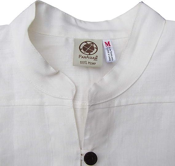PANASIAM Fischerman camicie di canapa L XL e XXL M in 100/% canapa naturale
