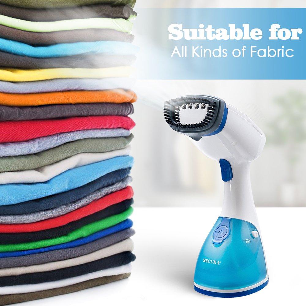 Secura handheld garment fabric steamer instant steam in 15 seconds 2-year warranty