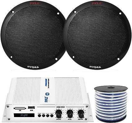 New Pyle 6 x 200W 3.5 Mini Box Marine Outdoor Waterproof 1200Watt Speaker System