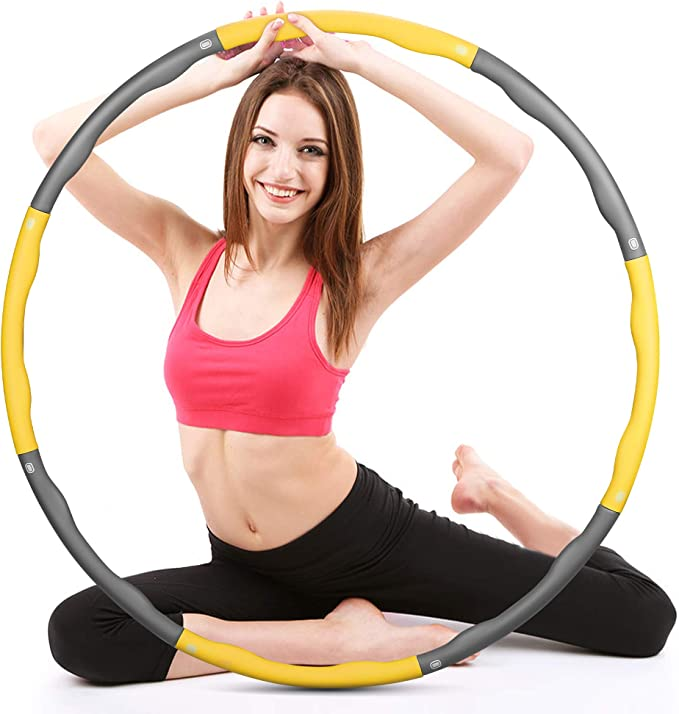 Hulahoop exercise gym mit schaumstoff pneus gym fitness reifen health 8 teile