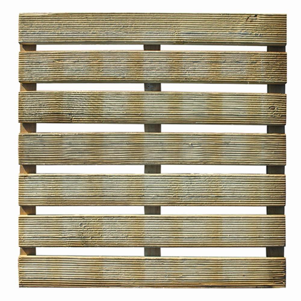 25 Stück Siena Garden Holzfliese Salma, Bodenfliesen, geriffelt 50 x 50 cm, Holzstärke: 28 mm, 7+3 Latten, kesseldruckimprägniert, Kiefer