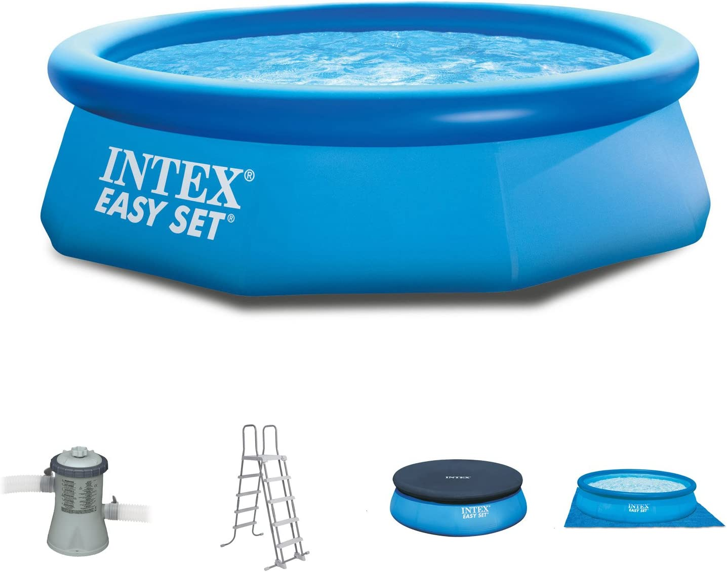 Intex 244 x 76 cm Easy Pool 281121 Juego completo incl. Bomba de ...