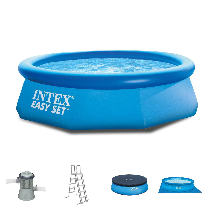 Intex 305 x 76 cm Easy Pool 281221 Juego completo Bomba de filtro ...