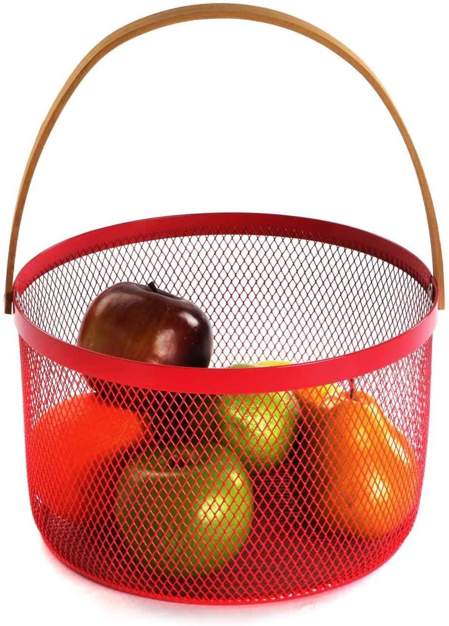 Corbeille /à fruits ronde 30 x 25 x 25 cm beige