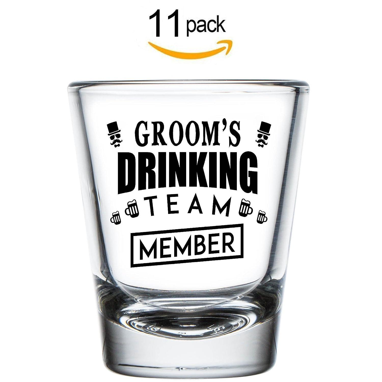 Amazon.com | Shop4Ever Groom and Groom\'s Drinking Team Member Shot ...