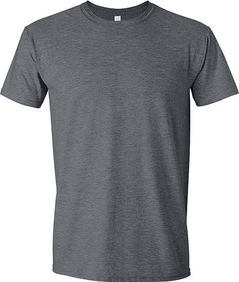 66798a2ae Gildan - Suave básica camiseta de manga corta para hombre - 100% algodón  gordo