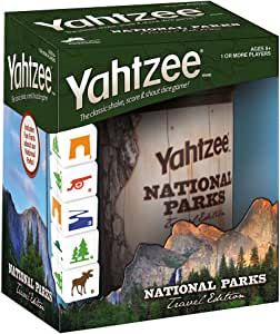 YAHTZEE National Parks Travel Edition | Classic Yahtzee Dice Game with a National Parks Theme | Perfect Travel Game for Families | Celebrate US National Parks Service
