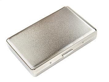 Focus Estuche de cigarrillos de aluminio (10cm x 6.7cm x 1.5cm), mate, 773-2 DE