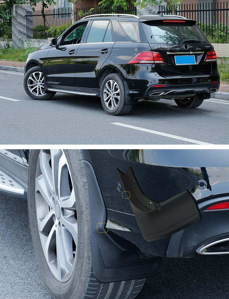 DEF Guard Mud Flaps for Mercedes Benz GLS 350 2016 2017 2018 2019 Front and Rear 4-PC Set