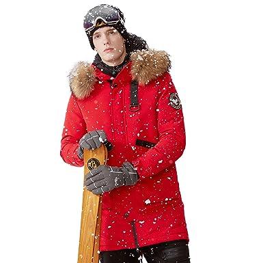 3d5317db4a22e BOSIDENG Men s Harsh Deep Winter Super Goose Down Coat Thicken Long Down  Jacket Real Fur Collar