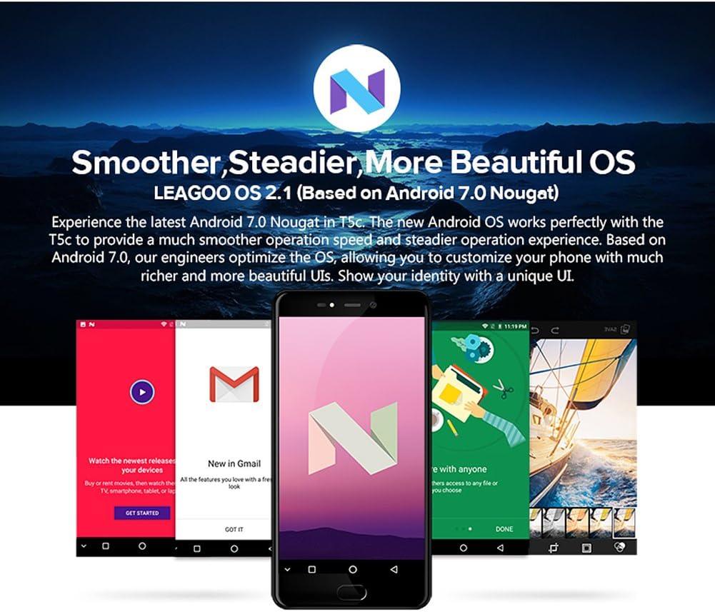LEAGOO T5 C 4 G LTE Smartphone Android 7.0 sc9853 Ocho Núcleo 5,5 ...