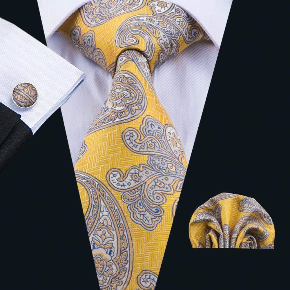 XKZYY Corbatas para Hombres Corbata pañuelo Gemelos Set con Regalo ...