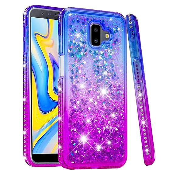 innovative design 556fc e30ef Amazon.com: J6 Plus 2018 Case, COTDINFORCA Liquid Glitter Case for ...