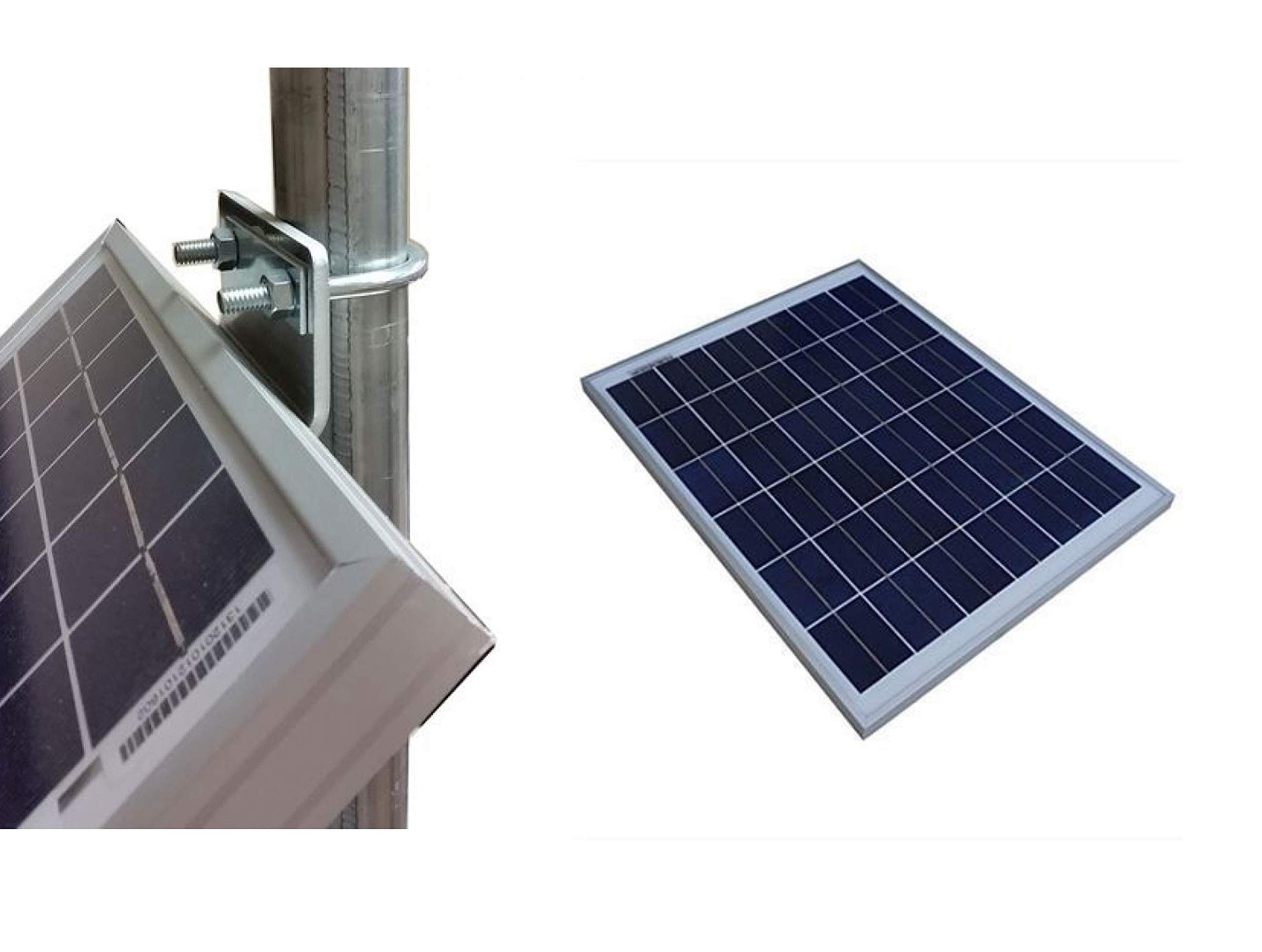 Dynamic Microgrids 10w 12v Solar Panel + Pole Mount or Wall Mounting Bracket by Dynamic Microgrids