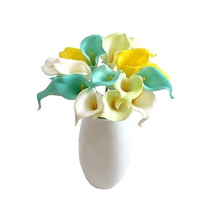 Amazon Mandys 15 Multicolor Calla Lily Artificial Flower Pu