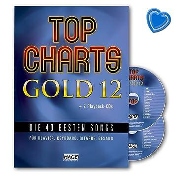 Top Charts Gold 12 – 40 mejores canciones para piano, teclado, guitarra y voz