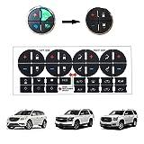BORUD AC Button Repair Kit, 2PCS Adhesive AC Dash