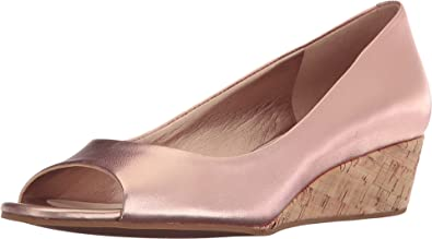 Womens Shoes Cole Haan Elsie Open Toe Wedge II Rose Gold Metallic