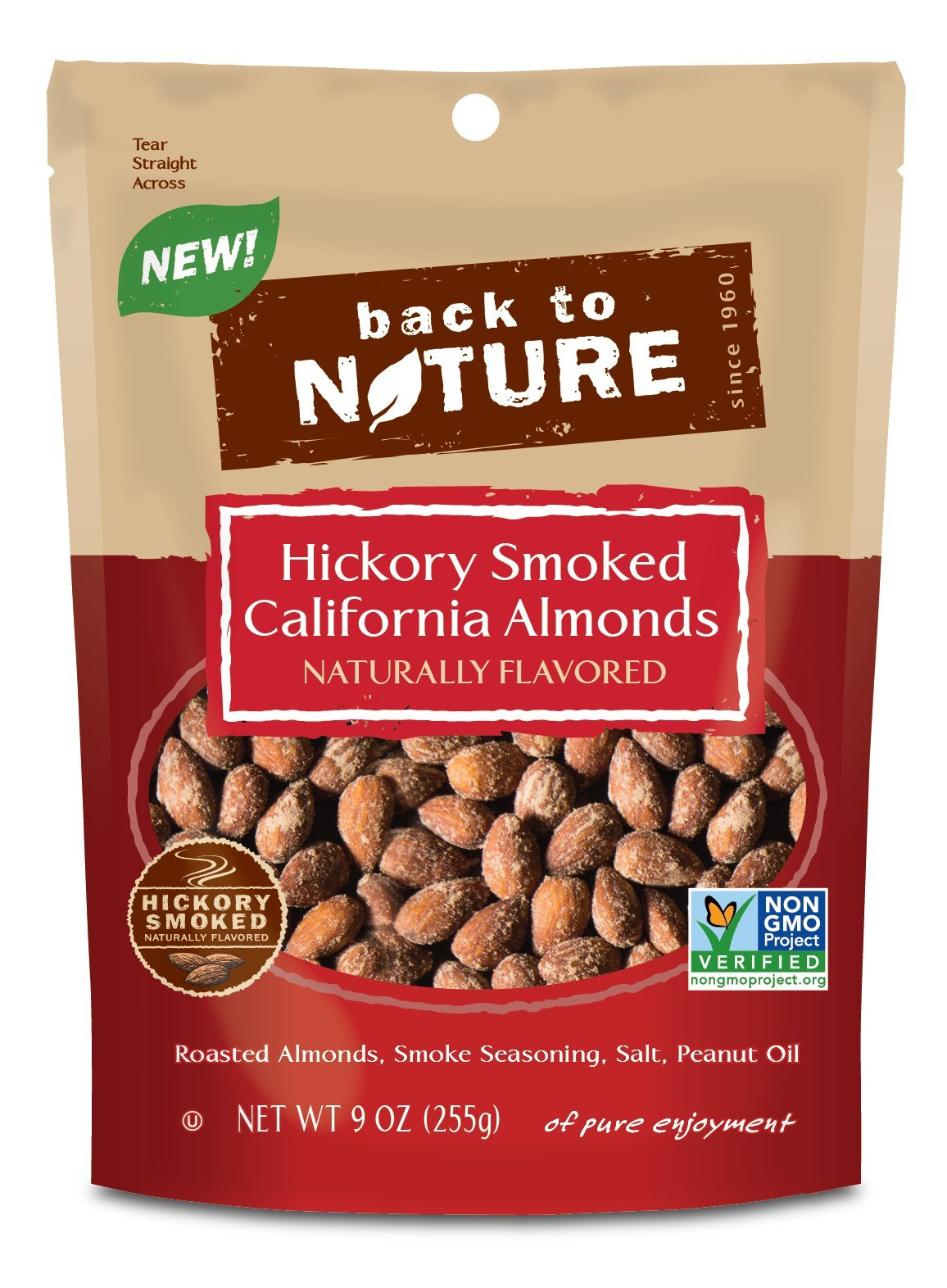 Back to Nature California Almonds, Hickory Smoked, 9 Ounce