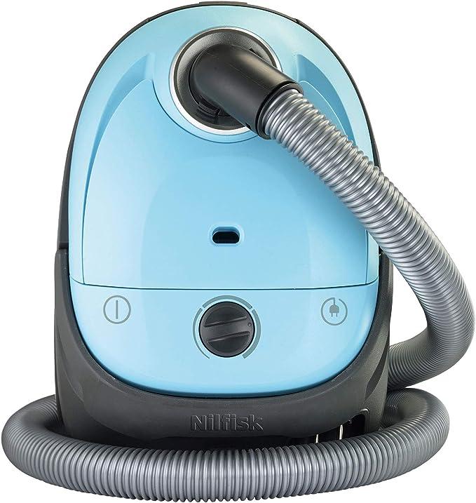 Nilfisk 128350583 Aspiradora, 280 W, 2.1 litros, 77 Decibelios, Plástico, Negro, Azul: Amazon.es: Hogar