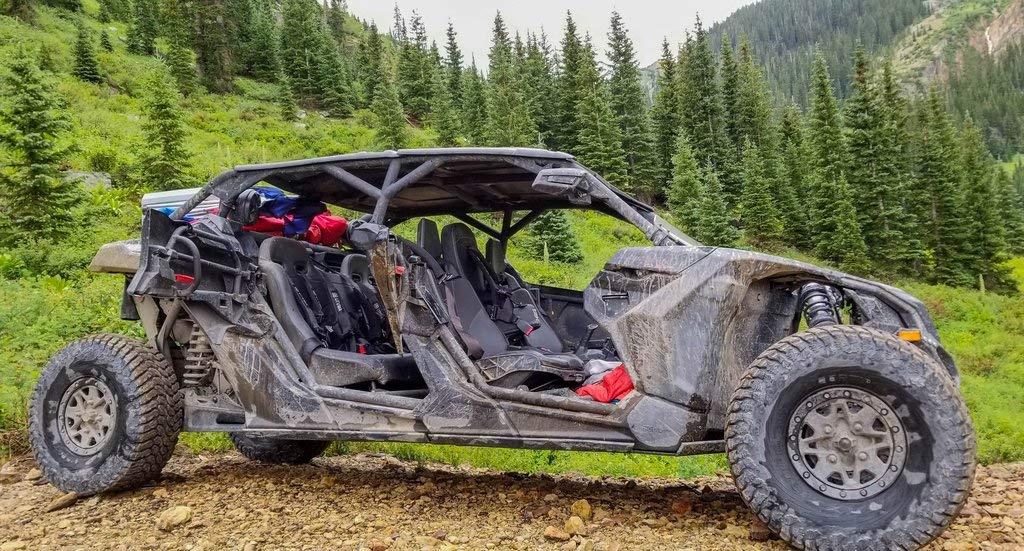 2017-2019 Can Am Maverick Max X3 Rear Bench Seat by UTV Mountain MX3RBS