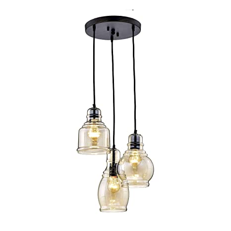 3 light cluster pendant sculptural glass globe 3 jojospring mariana antique black cognac glass 3light cluster pendant chandelier