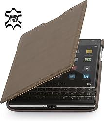 StilGut® Book Type, housse en cuir pour BlackBerry Passport, en sépia nappa