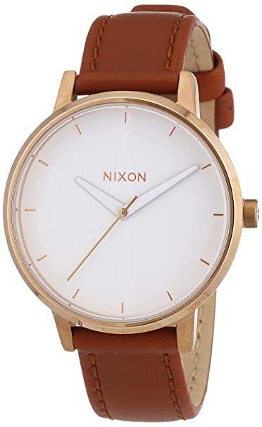Nixon Reloj Analógico para Mujer de Cuarzo con Correa en Cuero A108-1045-00: Nixon: Amazon.es: Relojes