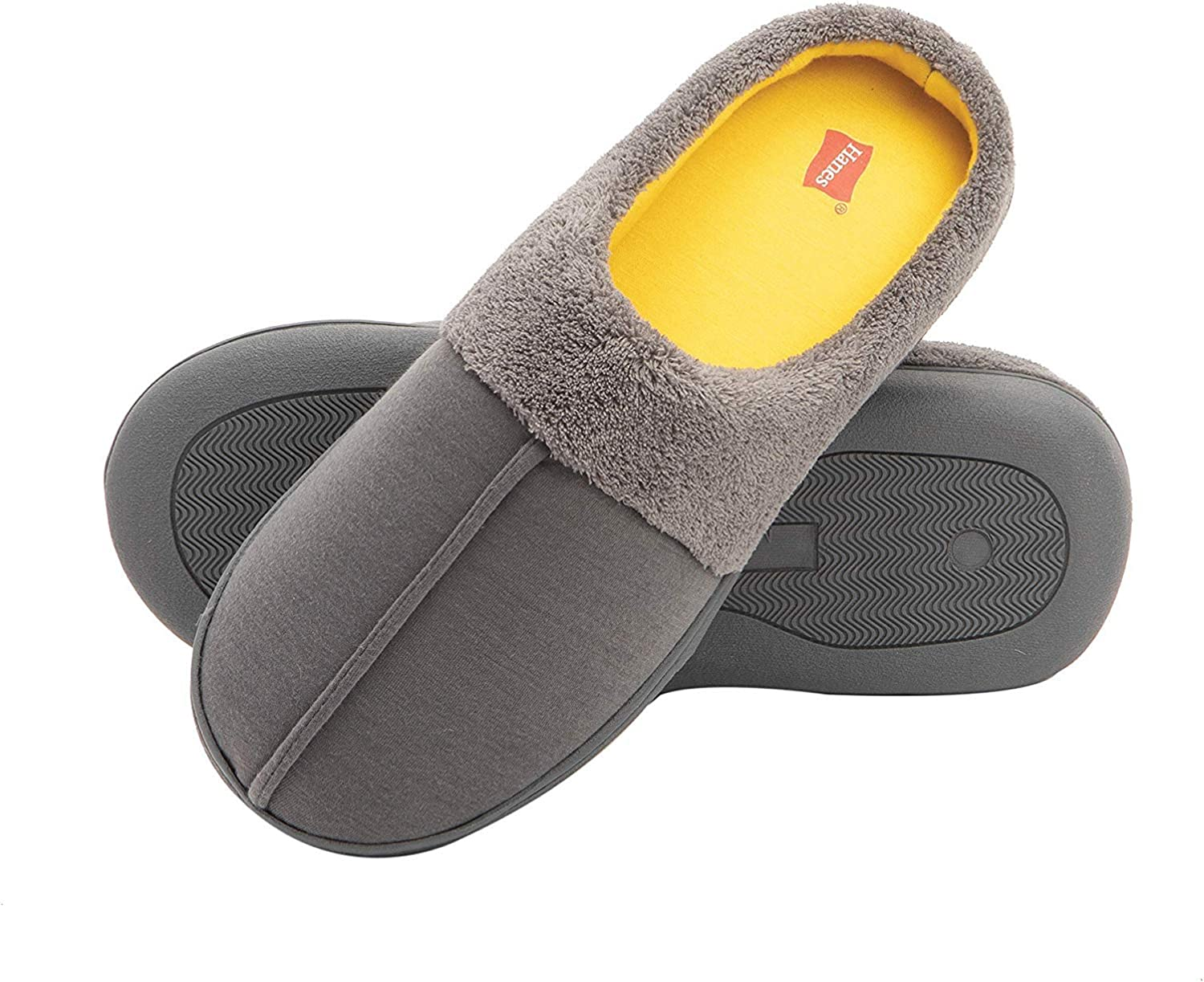Hanes Kids' Slipper Clog House Shoe with Indoor Outdoor Memory Foam Sole Fresh Iq Odor Protection