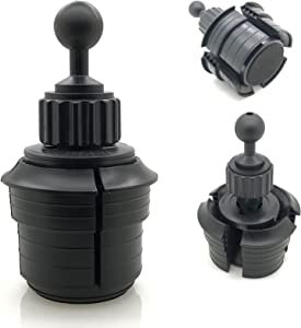 Truck Car Beverage Drinks Cup Holder Mount Base with 1 inch /25mm Rubber Coating Ball Compatible with All 25mm / 26mm / 1