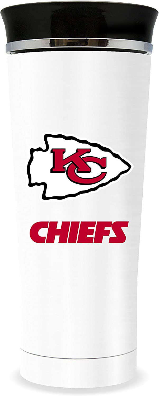 NFL Kansas City Chiefs 18oz Double Wall Stainless Steel Leakproof Thermo Tumbler