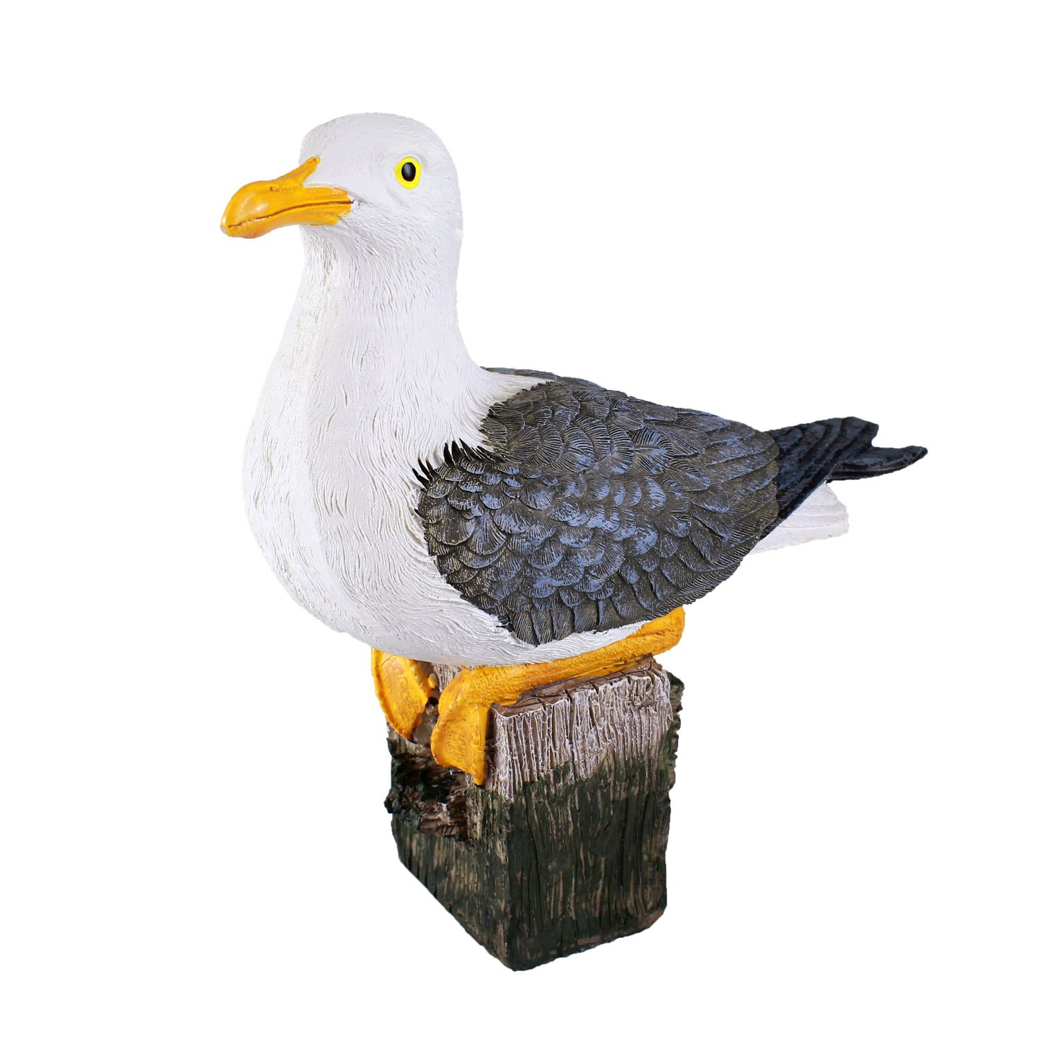 Danmu 1pc Polyresin Seagull on The Rock Statue Indoor Outdoor Decor (Style 3) 7.87'' in Height