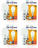 Wipro Garnet Base B22 12-Watt LED Bulb (Pack of 4, Cool Day Light)