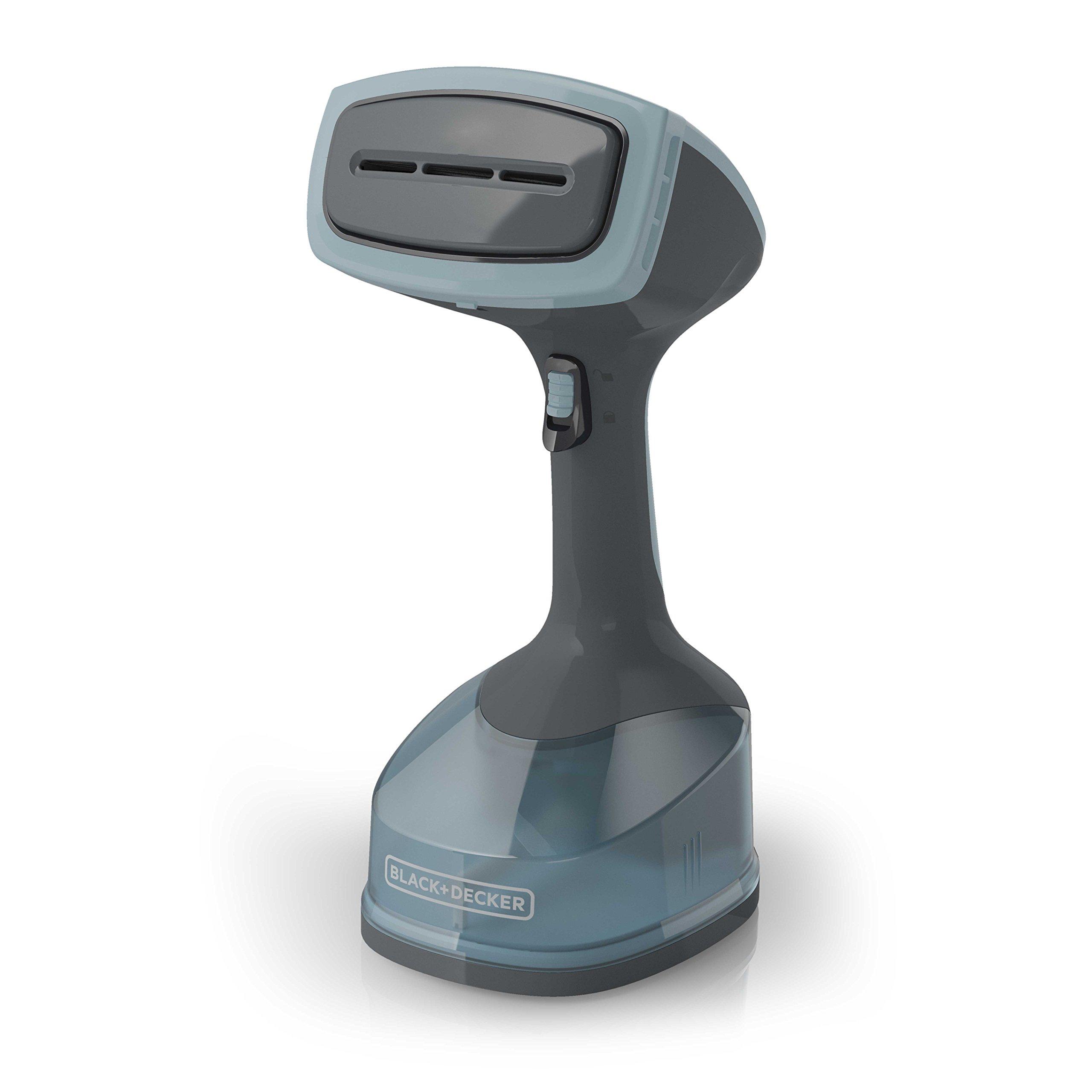 BLACK+DECKER Advanced Handheld Garment/Fabric Steamer with 3 Attachments, Gray/Blue, HGS200