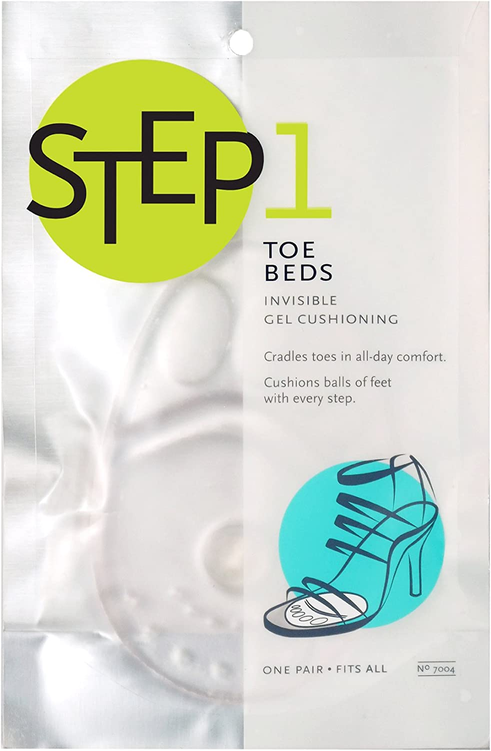Pack of 6 1 Pair Women/'s PROFOOT Toe Beds