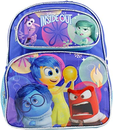 """Disney Inside Out Large Backpack 16/"""" Disgust Sadness Anger /& Joy Brand New!"""