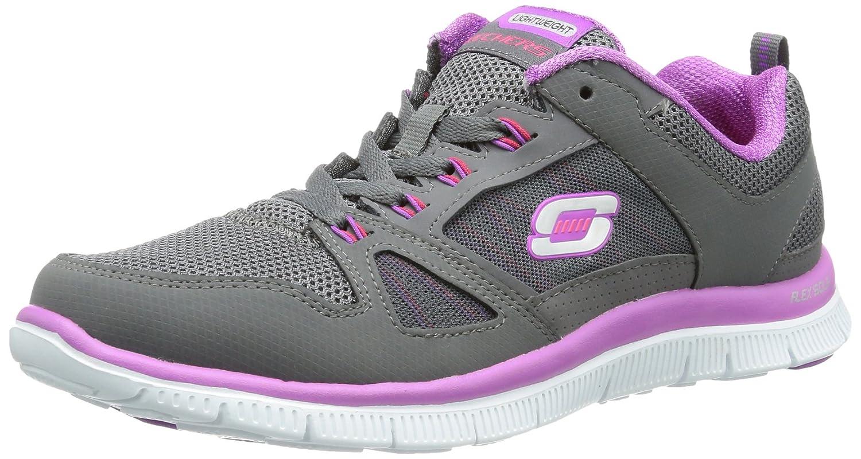Skechers Flex Appeal Spring Fever Damen Sneakers  36 EU|Grau (Ccpr)