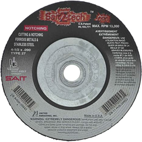 25-Pack United Abrasives//SAIT United Abrasives-SAIT 23827 Type 1 7-Inch by .090-Inch by 5//8-Inch High Speed Cut-Off Cutting Wheel