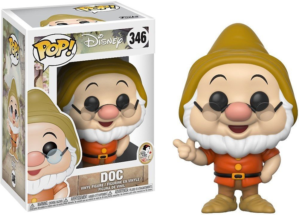 Includes Compatible Pop Box Protector Case Disney: Snow White and The Seven Dwarfs Vinyl Figure Doc Funko Pop