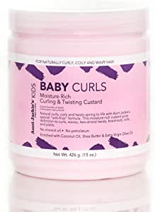 Aunt Jackie's Girls Baby Girl Curls, Curling and Twisting Custard, Great for Naturally Curly Hair, 15 Ounce Jar
