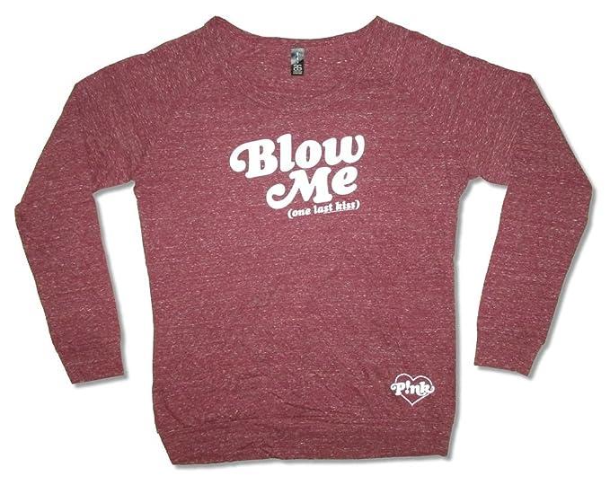 5406ed6ef Real Swag Inc P!nk Pink Blow Me Girls Juniors Maroon Red Long Sleeve Shirt