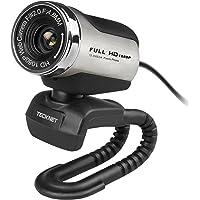 TeckNet Webcam 1080P Full HD mit integriertem Mikrofon, 1080p Pro Webcam  kompatibel mit Windows XP/ Vista / 7 / 8 / 10
