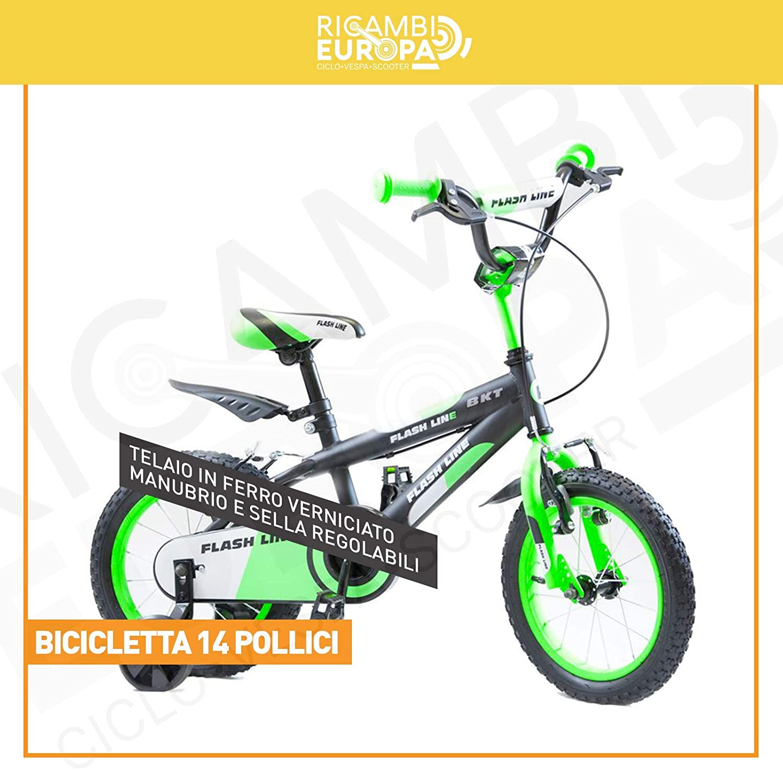 Fahrrad-Line für Kinder Größe 14 mit Rollen Schwarzgrün