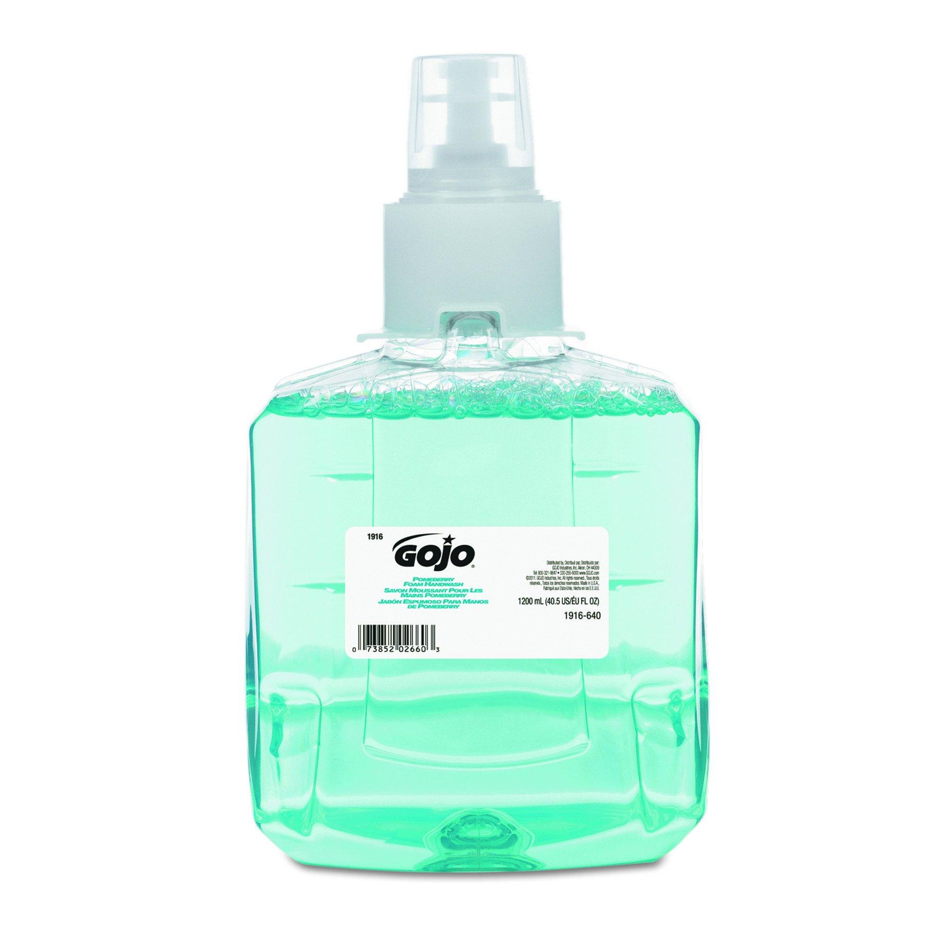 GOJO 191602CT Pomeberry Foam Handwash Refill, Pomegranate, 1200mL Refill (Case of 2)