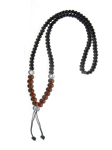Amazon.com: ZENstore Red Jasper Healing Yoga Mala Necklace ...