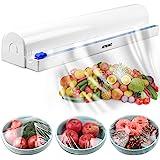 ArteiWo Household Reusable Food Plastic Wrap Dispenser with Cutter, Tin/Aluminum Foil Dispenser with Cutter, Maximum Replace