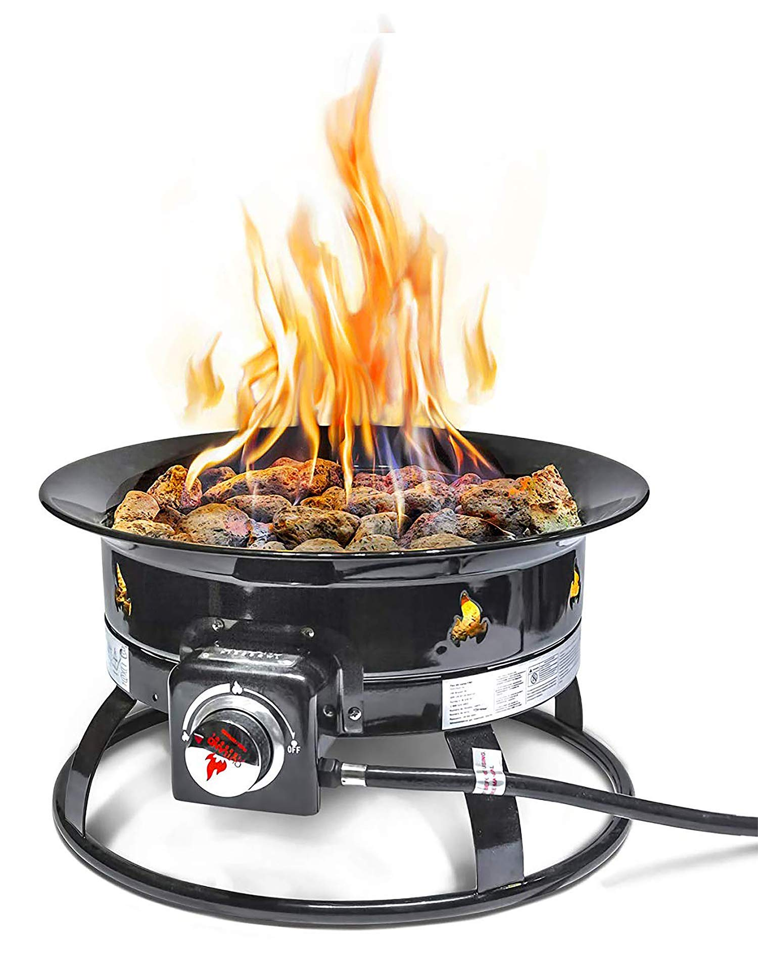 Outland Firebowl 823 Outdoor Portable Propane Gas Fire Pit, 19-Inch Diameter 58,000 BTU by Outland Living